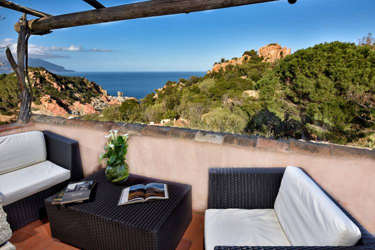 Deluxe double room with partial sea view sigillum cala moresca at arbatax park arbatax - sardinia